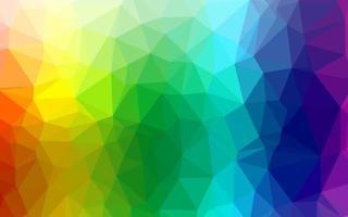 luz multicolor, textura de triângulo embaçado de vetor de arco-íris.