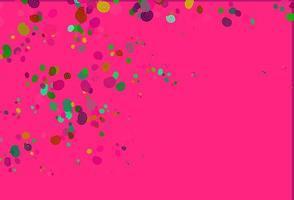 luz multicolorida, modelo de vetor de arco-íris com linhas ovais.