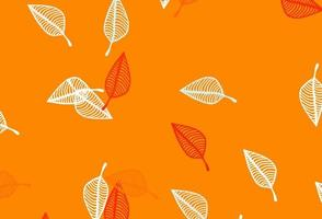 layout de desenho de vetor laranja claro.