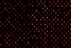 textura vector laranja escuro com cartas de jogar.