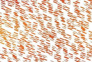 layout de vetor laranja claro com linhas planas.