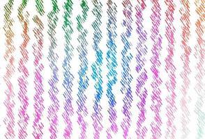 luz multicolorida, modelo de vetor de arco-íris com varas repetidas.