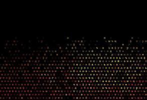padrão de vetor laranja escuro com símbolos abc.