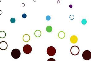 luz multicolor, fundo do vetor do arco-íris com bolhas.