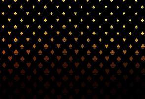fundo laranja escuro do vetor com sinais de cartões.