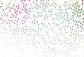 luz multicolor, pano de fundo de vetor de arco-íris com pontos.
