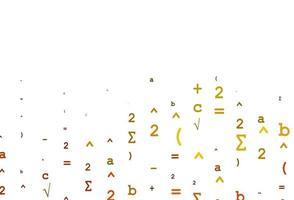 modelo de vetor laranja claro com símbolos matemáticos.