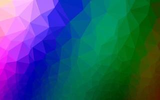 textura de mosaico de triângulo de vetor de arco-íris multicolorido escuro.