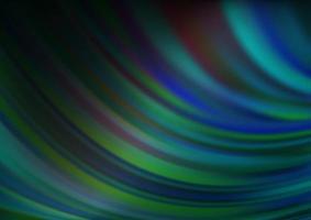 padrão de vetor azul escuro e verde com círculos curvos.