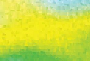 luz verde e amarelo vetor modelo triangular brilhante.