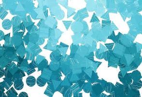 padrão de vetor azul claro em estilo poligonal com círculos.