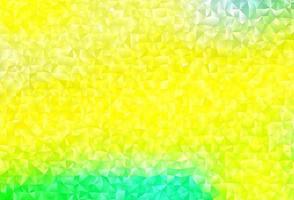 layout poligonal abstrato de vetor verde e amarelo claro.