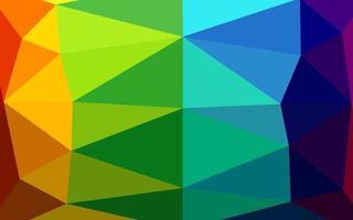 cenário abstrato do polígono do vetor do arco-íris multicolor, escuro.