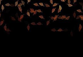 layout de desenho de vetor laranja escuro.