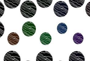 luz multicolor, padrão de vetor de arco-íris com esferas.