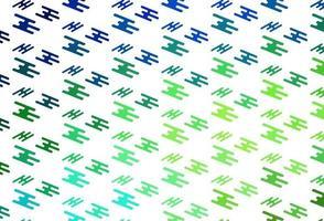 layout de vetor verde e vermelho claro com linhas planas.