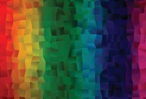 layout de vetor de arco-íris multicolorido escuro com retângulos, quadrados.