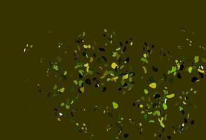 textura de vetor verde e amarelo claro com formas aleatórias.