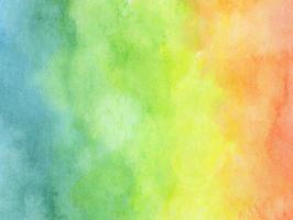 fundo colorido da aquarela do arco-íris - textura abstrata. vetor