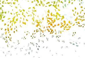 modelo de vetor verde-claro e amarelo com formas de memphis.