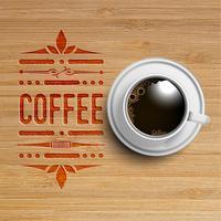 Uma realista xícara de café, vetor