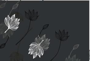 textura de doodle de vetor preto claro.