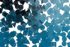 capa de vetor azul escuro em estilo poligonal com círculos.