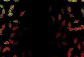 fundo do esboço do vetor verde e vermelho escuro.