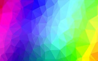 luz multicolorida, modelo de triângulo embaçado de vetor de arco-íris.