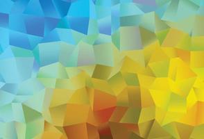 padrão de vetor azul claro, amarelo com cristais, retângulos.