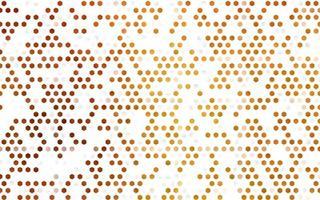 pano de fundo de vetor amarelo e laranja claro com hexágonos.