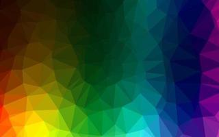 capa de mosaico de triângulo de vetor de arco-íris multicolorido escuro.
