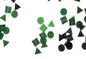textura de vetor verde claro em estilo poli com círculos, cubos.