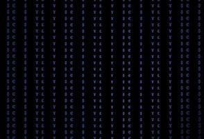 modelo de vetor azul escuro com eur, usd, gbp, jpy.