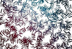 textura vector preto escuro com linhas coloridas.