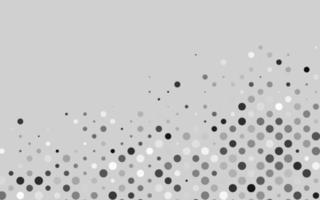 luz prata, padrão de vetor cinza com esferas.