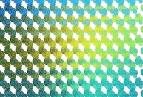 de fundo vector azul e amarelo claro com formas de bolha.
