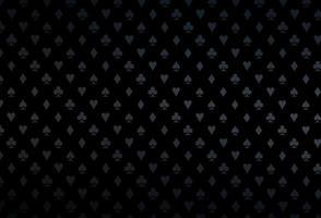 modelo de vetor preto escuro com símbolos de pôquer.
