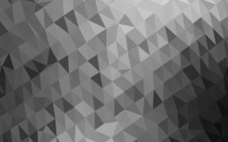 pano de fundo de mosaico abstrato de vetor cinza claro prata.