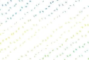 de fundo vector azul e amarelo claro com símbolos musicais.