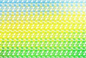 pano de fundo de vetor azul e amarelo claro com linhas dobradas.