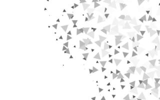 prata clara, capa de vetor cinza em estilo poligonal.