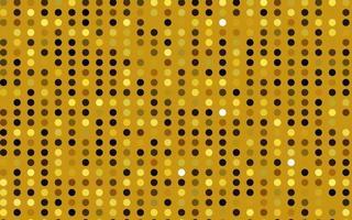 textura de vetor amarelo e laranja claro com discos.