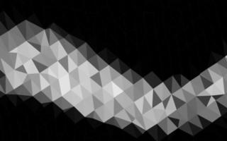 modelo de mosaico de triângulo de vetor cinza claro prata.