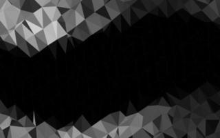 prata escura, capa poligonal abstrata de vetor cinza.