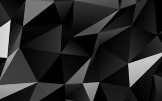 prata escura, textura de baixo poli de vetor cinza.