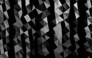 prata escura, padrão poligonal de vetor cinza.