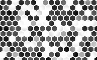 luz prata, padrão de vetor cinza com hexágonos coloridos.