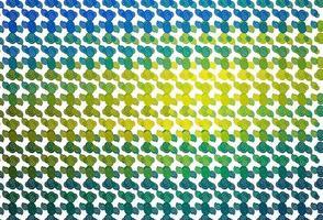 padrão de vetor azul e amarelo claro com fitas dobradas.