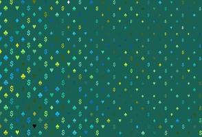 layout de vetor de azul escuro e amarelo com elementos de cartões.